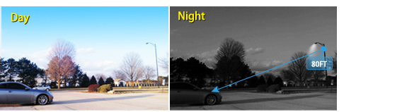 80ft Night Vision of Pan Tilt Camera