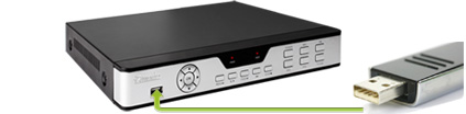 DVR usb backup