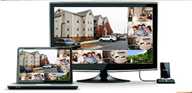 View from a TV or PC monitor