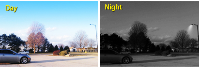 the cctv camera system get clear pictures both day and night