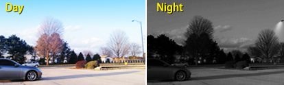 View in No-Light Situations with Automatic Night Vision