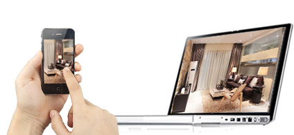 view your home from anywhere anytime through mobile or pc with this 4 channel security system