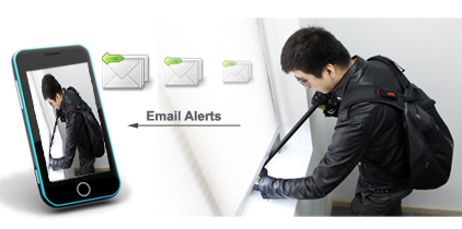 a thief can be caught at the right time by the email alert with this 4 channel security system