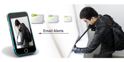 email alert function with this security system