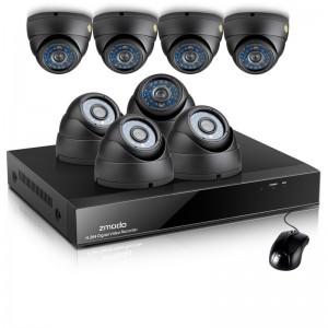 Zmodo 8CH CCTV Security System & 8 600TVL Dome IR Cameras 1TB HDD