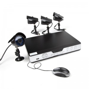 Zmodo 8CH Outdoor Camera System & 4 600TVL Sony CCD Cameras-500GB HDD