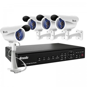 4CH H.264 Full D1 DVR 1TB HDD & 4 Sony CCD 420TVL 35 IR LEDs Outdoor Security Cameras