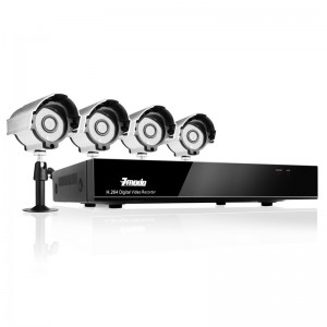 8CH H.264 DVR with 500GB HDD & 4 Sony CCD 420TVL 65ft IR Outdoor Security Cameras