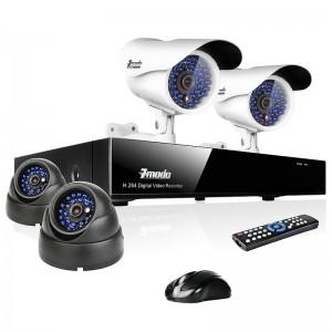 4 Sony CCD IR Indoor Outdoor CCTV Cameras Security System & 500GB HD