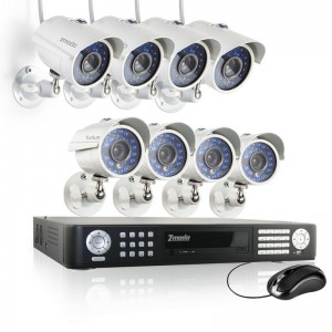 16CH CCTV Surveillance System with 8 Infrared 480TVL Outdoor Cameras