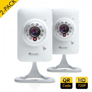2-Pack ZMODO New 720P HD Wireless Network IP Security Cameras