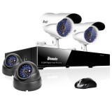 4CH H.264 Full D1 DVR & 4 Sony CCD Weatherproof Surveillance Cameras