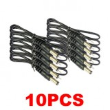 Male Plug Lead Power Cable for Surveillance Cameras Quantity 10