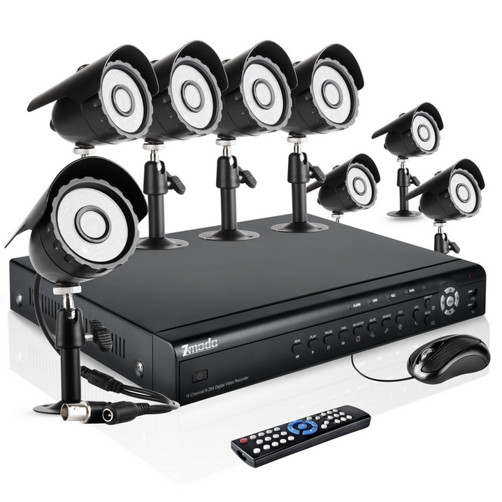 16CH CCTV Surveillance Video System with 8 Outdoor Night Vision Security Cameras