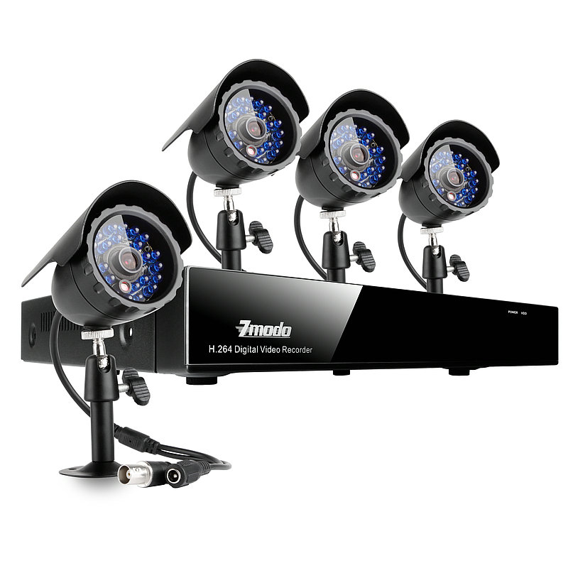 8CH H.264 Security Camera System with 4 Night Vision Outdoor Cameras