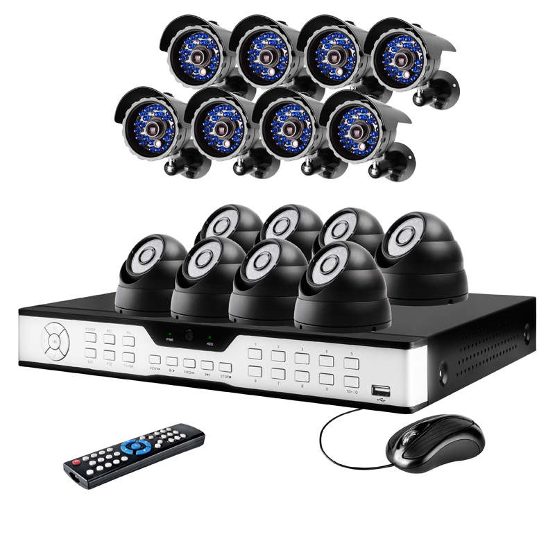 16CH Business Security System with 16 Sony CCD 65ft IR Camera & 1TB HD