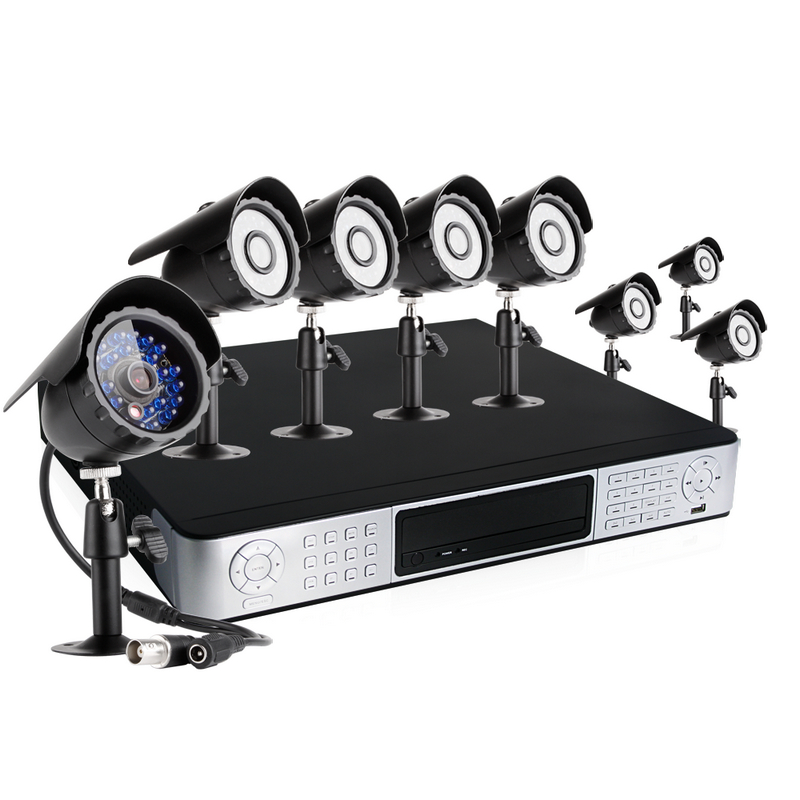 CCTV 16CH Security DVR 8 Sony CCD Day Night Surveillance Camera System