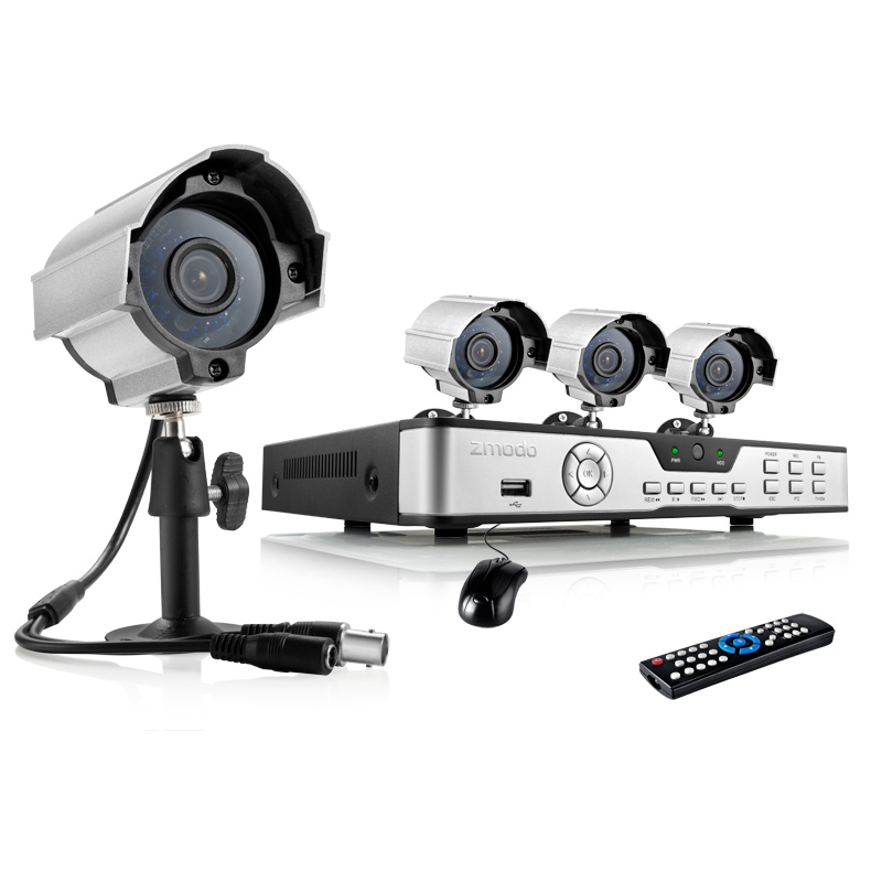 4CH H.264 D1 Security DVR Surveillance Camera System with 4 600TVL Day Night Security Cameras